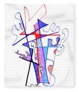 Abstract Drawing Sixty-nine Fleece Blanket