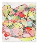 Abstract Drawing Twenty Fleece Blanket