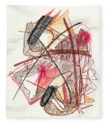 Abstract Drawing Twenty-one Fleece Blanket