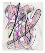 Abstract Drawing Twenty-six Fleece Blanket