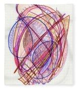 Abstract Drawing Twenty-two Fleece Blanket