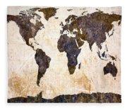 Abstract Earth Map Fleece Blanket
