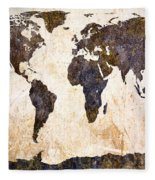 Abstract Earth Map Fleece Blanket