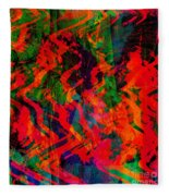 Abstract - Emotion - Rage Fleece Blanket
