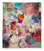 Abstract Expressionism Fleece Blanket