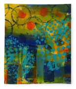 Abstract Expressions - Background Art Fleece Blanket