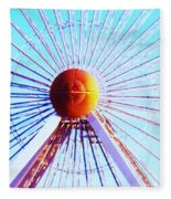Abstract Ferris Wheel Fleece Blanket