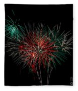 Abstract Fireworks Fleece Blanket