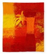 Abstract Floral - 6at01a Fleece Blanket