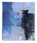 Abstract Floral - Bl3v3t1 Fleece Blanket