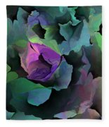 Abstract Floral Expression 041213 Fleece Blanket