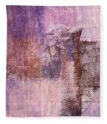 Abstract Floral- I55bt2 Fleece Blanket