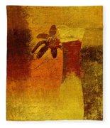 Abstract Floral - P01bt01c11c Fleece Blanket