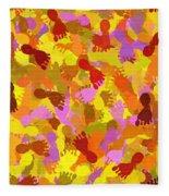 Abstract Footprints Fleece Blanket
