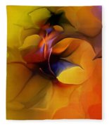 Abstract From Within Fleece Blanket