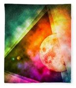 Abstract Full Moon Spectrum Fleece Blanket