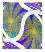 Abstract Fusion 203 Fleece Blanket