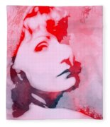 Abstract Garbo Fleece Blanket
