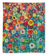 Abstract Garden Of Happiness Fleece Blanket