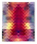 Abstract Geometric Spectrum Fleece Blanket
