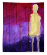 Abstract Ghost Figure No. 3 Fleece Blanket