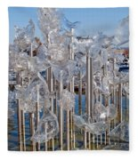 Abstract Glass Art Sculpture Fleece Blanket