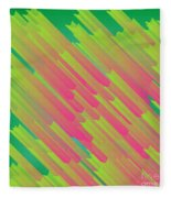 Abstract Glowing Structures Fleece Blanket