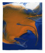Abstract Gold Fish Fleece Blanket