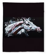 Abstract Horse Fleece Blanket