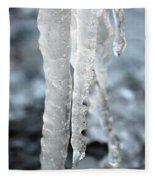 Abstract Icicles I Fleece Blanket