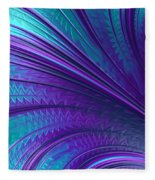 Abstract In Blue And Purple Fleece Blanket