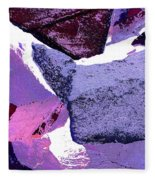 Abstract In Purple Fleece Blanket