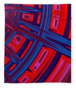 Abstract In Red And Blue Fleece Blanket