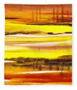 Abstract Landscape Found Reflections Fleece Blanket