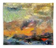 Abstract Landscape II Fleece Blanket