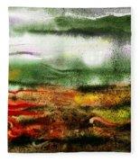 Abstract Landscape Sunrise Sunset Fleece Blanket