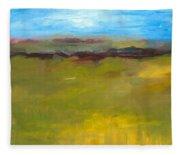Abstract Landscape - The Highway Series Fleece Blanket