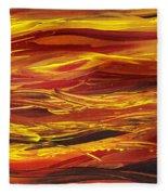 Abstract Landscape Yellow Hills Fleece Blanket