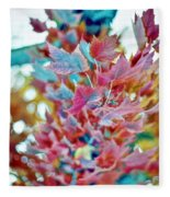 Abstract Leaves Fleece Blanket