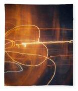 Abstract Light Streaks Fleece Blanket