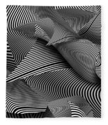Abstract - Lines - Path To Destruction Fleece Blanket