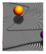 Abstract - Lines - That's A Moire Fleece Blanket