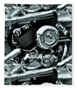 Abstract Motor Bike - Doc Braham - All Rights Reserved Fleece Blanket