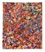 Abstract - Nail Polish - Clown Suicide Fleece Blanket
