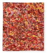 Abstract - Nail Polish - Cosmetically Speaking Fleece Blanket