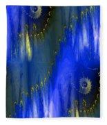 Abstract Nautilus Fleece Blanket