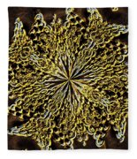 Abstract Neon Gold Fleece Blanket