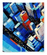 Abstract New York Sky View Fleece Blanket