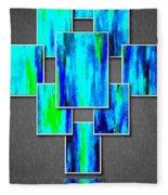 Abstract Ocean Tiles Fleece Blanket