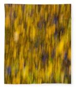 Abstract Of Autumn Gold Fleece Blanket